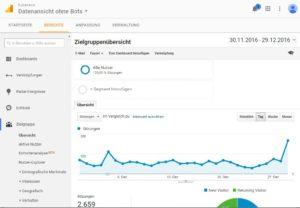 Screenshot: Der erste Blick auf Analytics