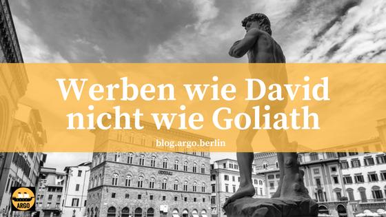 Coverbild: Werben wie David, nicht wie Goliath