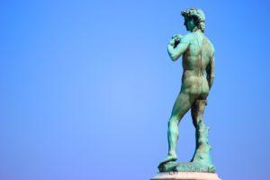 Foto einer David-Statue