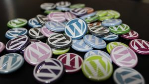 Wordpress-Logos auf Buttons