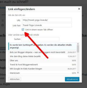 Screenshot: Link in neuem Fenster öffenen