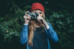 Travel blogger foto